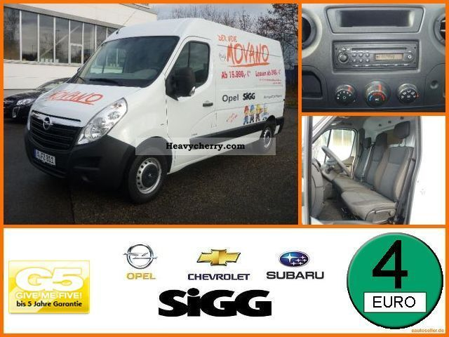 2011 Opel  B Movano 2.3 CDTI Van L2H2 3.3T aircon Van or truck up to 7.5t Box-type delivery van photo