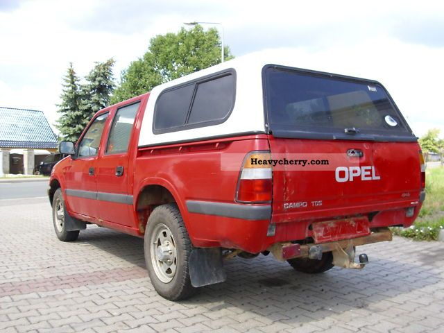 opel campo s 4x4 pick up 3 1 1999 box type delivery van photo and specs. Black Bedroom Furniture Sets. Home Design Ideas