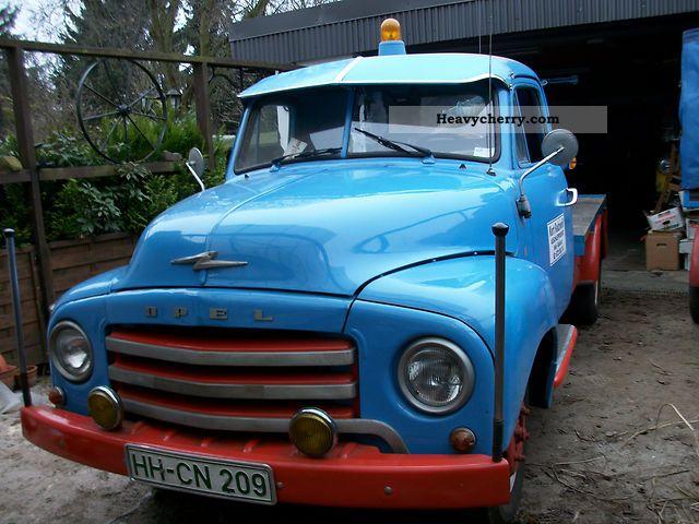 1956 Opel  Flash Van or truck up to 7.5t Breakdown truck photo