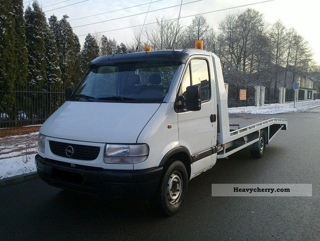 2000 Opel  Movano 2.8 TD, car transporters, LAWETA Van or truck up to 7.5t Breakdown truck photo