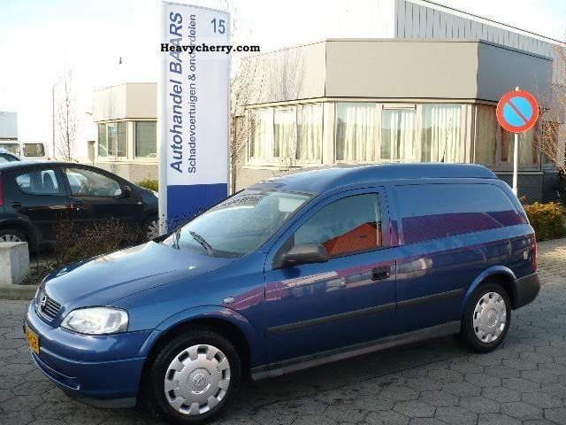 2002 Opel  ASTRA VAN 1.7 DT 55KW € 2250 -. NET Van or truck up to 7.5t Box photo