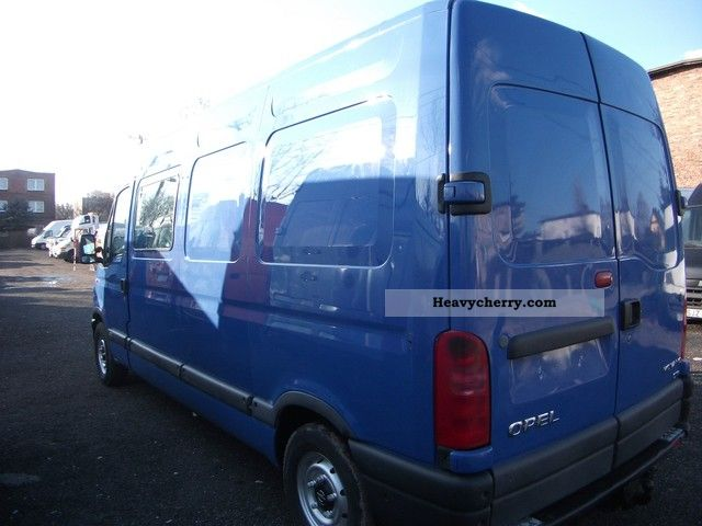 2000 Opel  Movano Van or truck up to 7.5t Other vans/trucks up to 7 photo