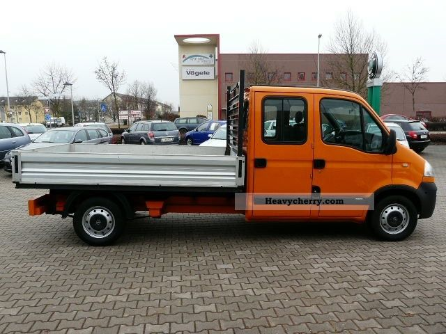 Opel L3 Movano Crew Cab Flatbed Heater 2007 Stake Body
