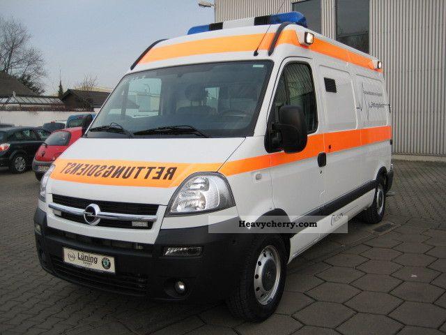 2006 Opel  Movano ambulance Miesen air suspension conversion Van or truck up to 7.5t Ambulance photo