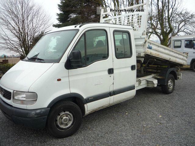 2000 Opel  MOVANO Van or truck up to 7.5t Three-sided Tipper photo