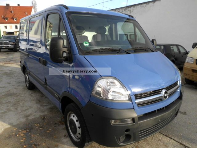 opel movano 2 5 tdci 2007 box type delivery van photo and specs. Black Bedroom Furniture Sets. Home Design Ideas