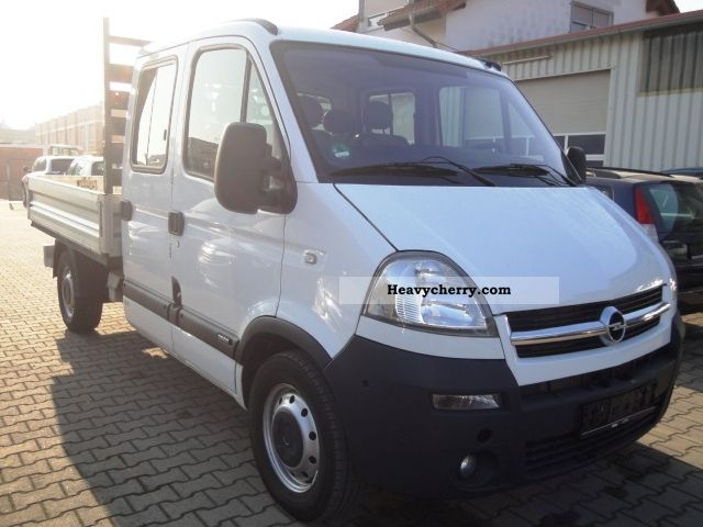 opel movano 2 5 cdti doka 7 seater air 2007 stake body. Black Bedroom Furniture Sets. Home Design Ideas