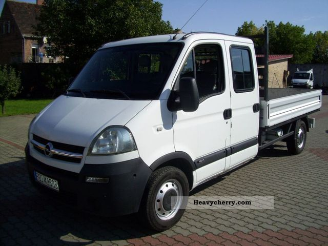 opel movano 2 5 cdti doka skrzynia max 2006 stake body. Black Bedroom Furniture Sets. Home Design Ideas