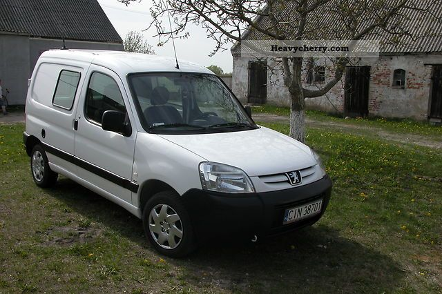 peugeot partner 2 0 hdi z klimatyzacja okazja 2003 box type delivery van photo and specs. Black Bedroom Furniture Sets. Home Design Ideas