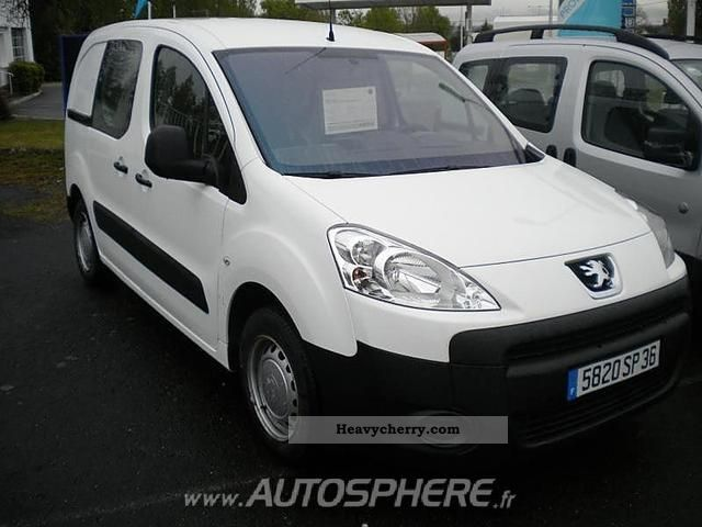 2008 Peugeot  Partners Fgtte 120 L1 HDi75 Pack CD Clim Van or truck up to 7.5t Box-type delivery van photo