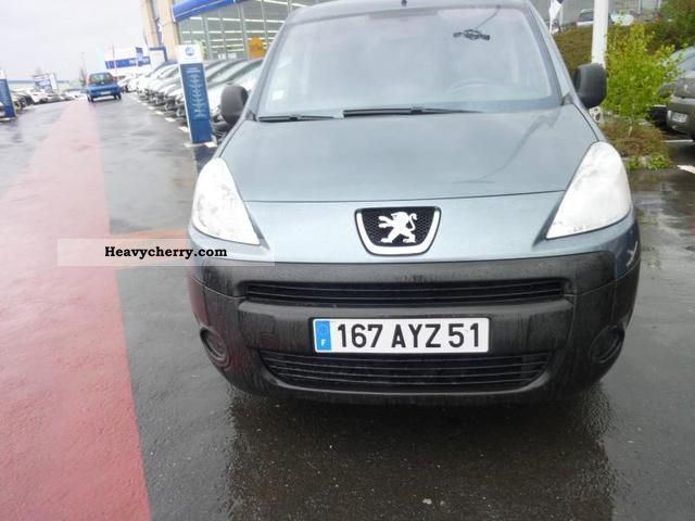 2008 Peugeot  Partners Fgtte 120 L1 HDi90 Pack CD Clim Van or truck up to 7.5t Box-type delivery van photo