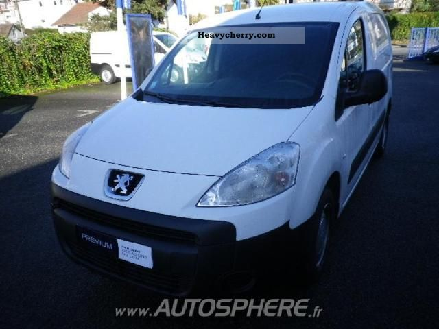 2011 Peugeot  Partners Fgtte 120 L1 HDi90 Pack CD Clim Van or truck up to 7.5t Box-type delivery van photo