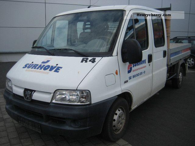2003 Peugeot  Boxer 2.2 HDI DOKA platform 2.55 meters long Van or truck up to 7.5t Stake body photo