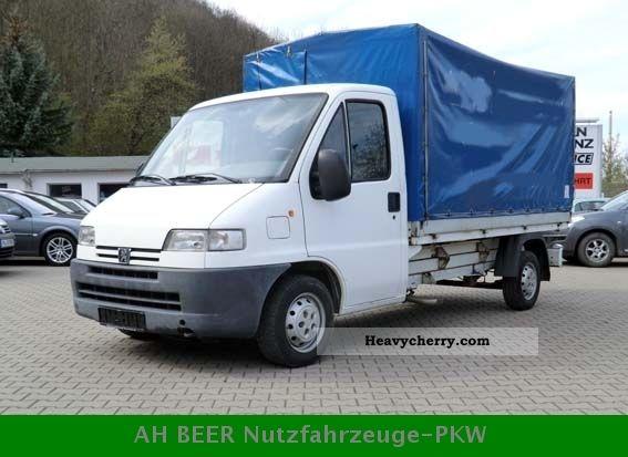 2000 Peugeot  Boxer tarp Van or truck up to 7.5t Stake body and tarpaulin photo