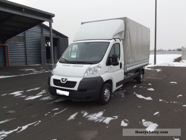 2009 Peugeot  Boxer HDI 120 Pick-Plane Klíma LIKE NEW! Van or truck up to 7.5t Stake body and tarpaulin photo