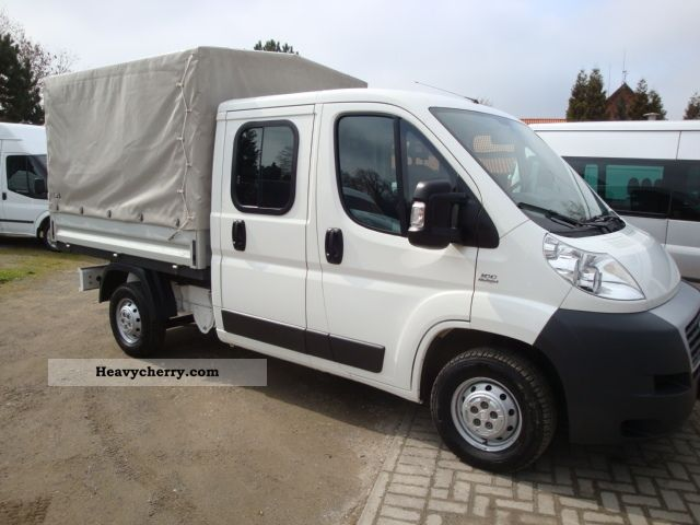 2008 Peugeot  Boxer DoKa Flatbed / tarpaulin 26oooKm! 6-seater Van or truck up to 7.5t Stake body photo