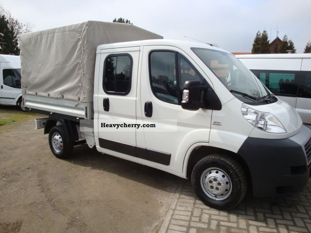 2008 Peugeot  Boxer DoKa Flatbed / tarpaulin 26oooKm! 6-seater Van or truck up to 7.5t Stake body and tarpaulin photo