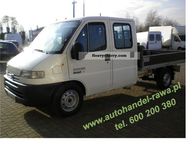 2001 Peugeot  Boxer SKRZYNIOWY DOKA 7 osob Van or truck up to 7.5t Box photo