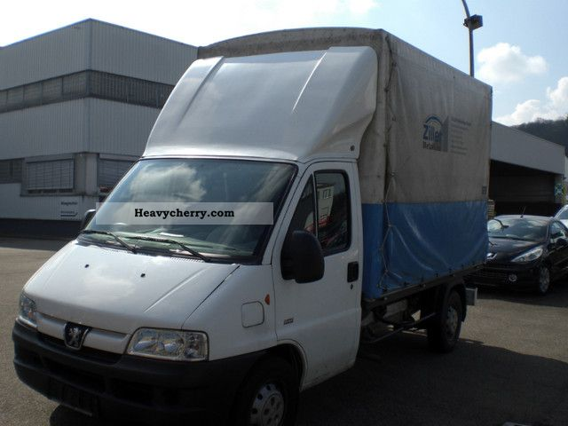2006 Peugeot  Boxer 2.8 HDi 350 L Tent Van or truck up to 7.5t Stake body and tarpaulin photo