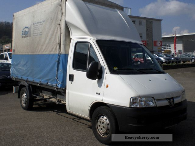 peugeot boxer 2 8 hdi 350 l tent 2006 stake body and tarpaulin truck photo and specs. Black Bedroom Furniture Sets. Home Design Ideas