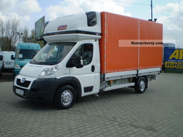 2009 Peugeot  BOXER PRITSCHE PLANE AIR 2.2HDI No.97 Van or truck up to 7.5t Stake body and tarpaulin photo