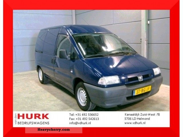 2002 Peugeot  Expert 1.9 D 220 C 69 KM PK situation was Van or truck up to 7.5t Box-type delivery van photo