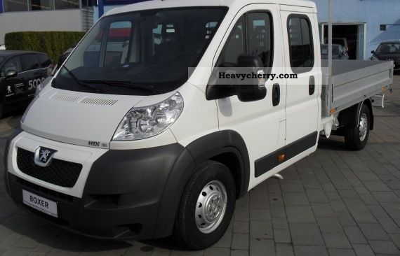 2011 Peugeot  Boxer 435 L4 180 Doka 3.0 Climate, APC Hdi Van or truck up to 7.5t Stake body photo