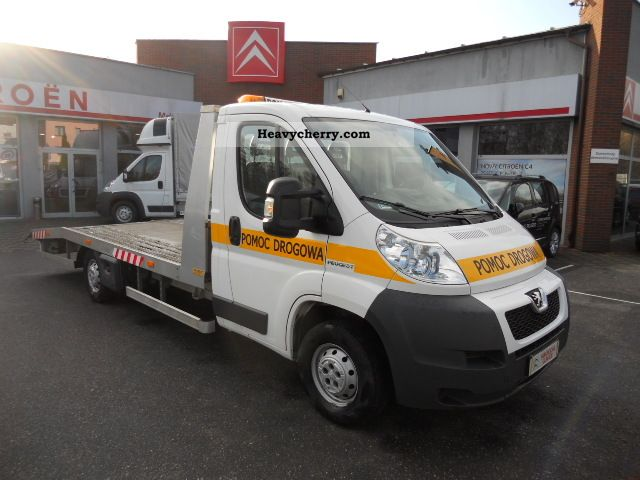 2009 Peugeot  Boxer 2010r. LAWETA 2.2HDI 120km KS.SERWISOWA Van or truck up to 7.5t Car carrier photo