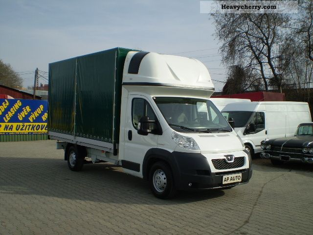 peugeot boxer pritsche plane air 2 2hdi 2008 stake. Black Bedroom Furniture Sets. Home Design Ideas