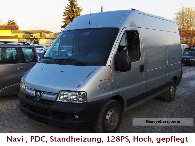 2003 Peugeot  Boxer Standheiz. PDC, Navigation, trailer hitch, high, 128PS, 5025 € N Van or truck up to 7.5t Box-type delivery van - high photo