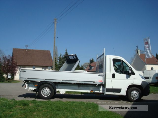 2009 Peugeot  Boxer L 3 3-side tipper body zinc Van or truck up to 7.5t Tipper photo