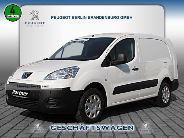 2012 Peugeot  Partner HDI L2H1 Box 90 CLIMATE Van or truck up to 7.5t Box-type delivery van - long photo