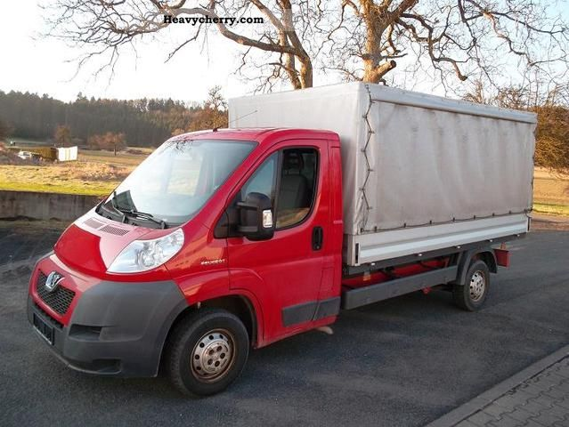 2007 Peugeot  Boxer HDI tarp Van or truck up to 7.5t Stake body and tarpaulin photo