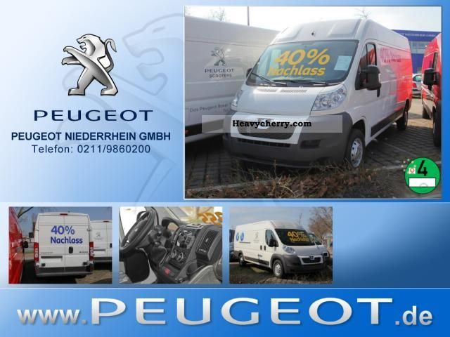 2012 Peugeot  Boxer 335 L2H2 box high roof air Parktronic Van or truck up to 7.5t Box-type delivery van - high photo
