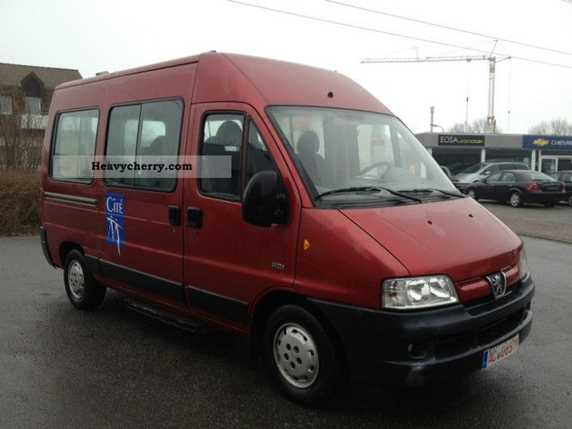 2003 Peugeot  Boxer 9 seats + High Roof * 3 * € with air Van or truck up to 7.5t Estate - minibus up to 9 seats photo