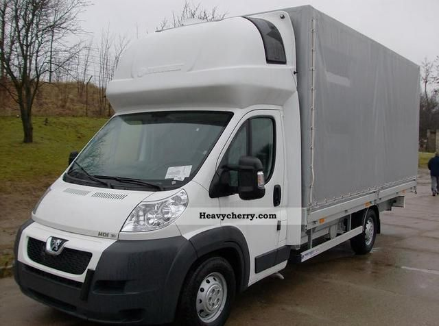 2011 Peugeot  BOXER 10 EU PALET 180KM Van or truck up to 7.5t Stake body and tarpaulin photo