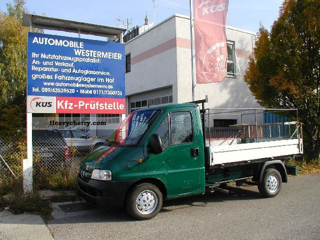 2003 Peugeot  Boxer 2.0 HDI Platform Van or truck up to 7.5t Stake body photo