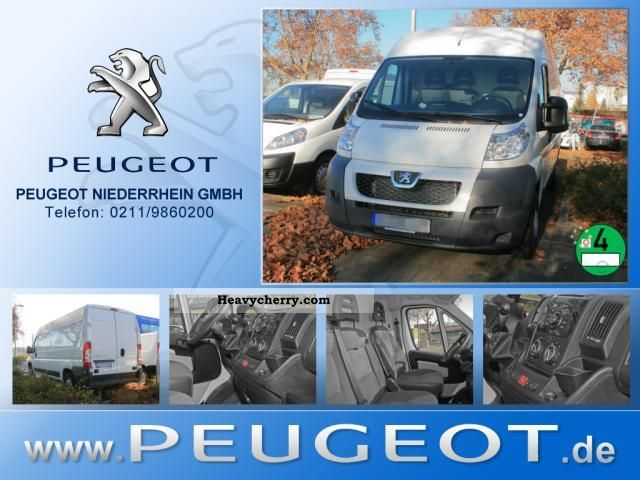 2011 Peugeot  Boxer 335 L2H2 box high air Parktronic Van or truck up to 7.5t Box-type delivery van - high photo
