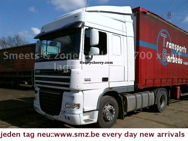 2006 DAF  105 XF 410 SPACECAB SWITCHING intarder Semi-trailer truck Standard tractor/trailer unit photo