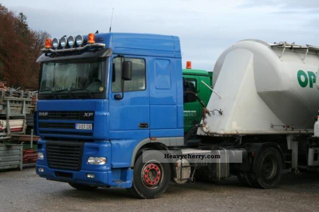 2003 DAF  XF95.480SC, SILOKOMPRESSOR, KIPPHYDR; Semi-trailer truck Standard tractor/trailer unit photo