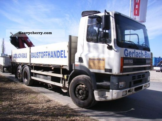 2000 DAF  CF 85 360 L 6X2 WITH HMF 1823 K3 Truck over 7.5t Stake body photo