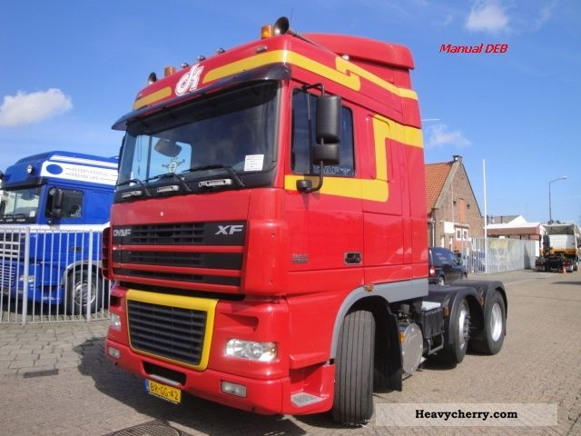 2005 DAF  SC FTG XF 95.430 6x2 DEB Semi-trailer truck Heavy load photo