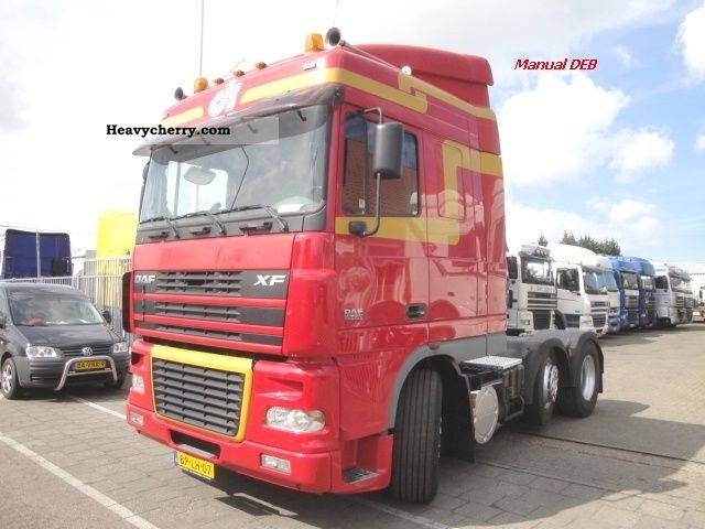 2004 DAF  SC FTG XF 95.430 6x2 DEB Semi-trailer truck Heavy load photo