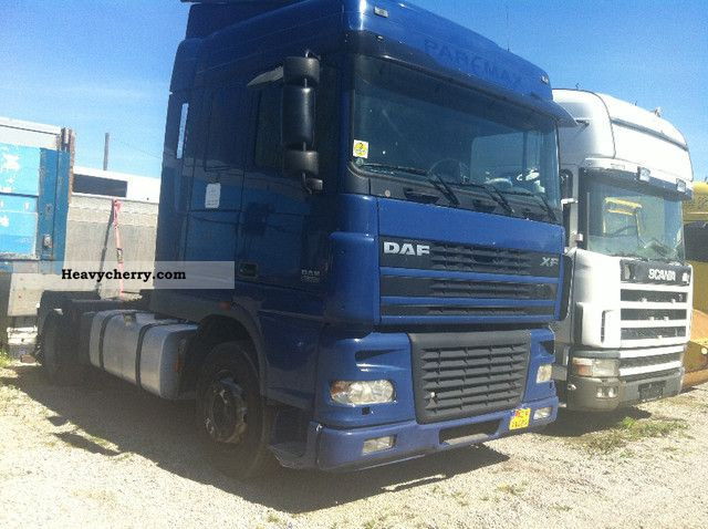 2003 DAF  XF 95 480 Spece Cupe front steel rear air Semi-trailer truck Standard tractor/trailer unit photo