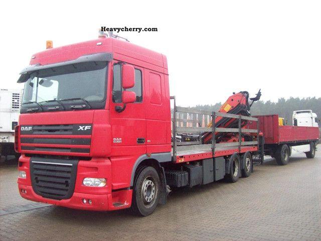 2008 DAF  XF 105.510 6x2 PK 18500 Baustoffzug Truck over 7.5t Stake body photo