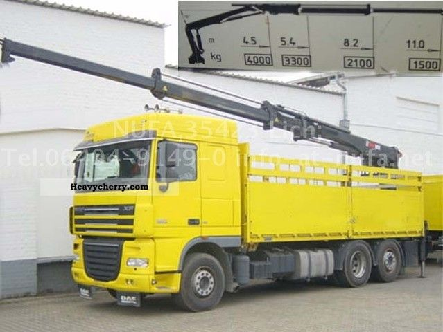 2007 DAF  105-510/6x2 Truck over 7.5t Stake body photo