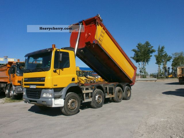2005 DAF  CF 85.480 Truck over 7.5t Tipper photo