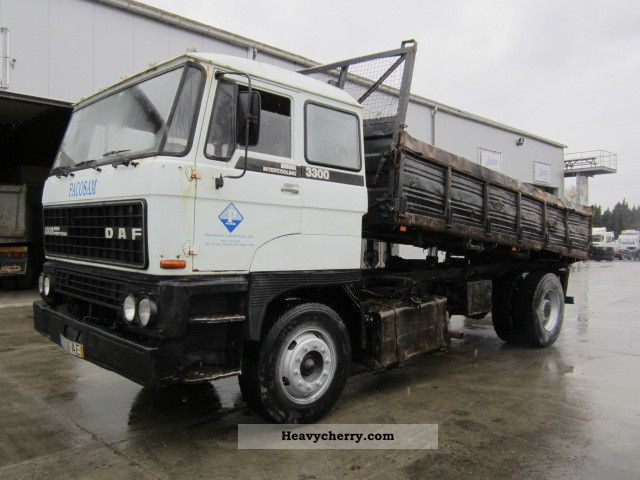 1992 DAF  3300 (FULL STEEL SUSPENSION) Truck over 7.5t Tipper photo
