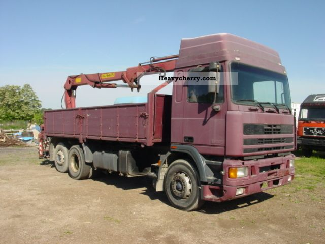 1991 DAF  ATI 95-330 6X2 with Palfinger crane Truck over 7.5t Stake body photo