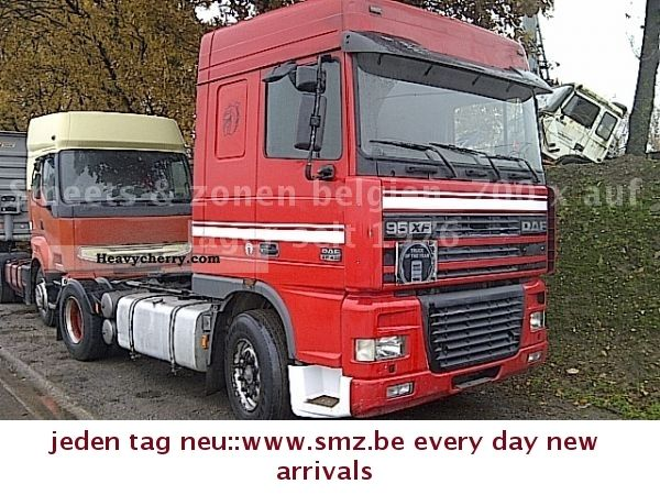 1998 DAF  430 15 x 95 Xf on stock! -11-12500 € Semi-trailer truck Standard tractor/trailer unit photo